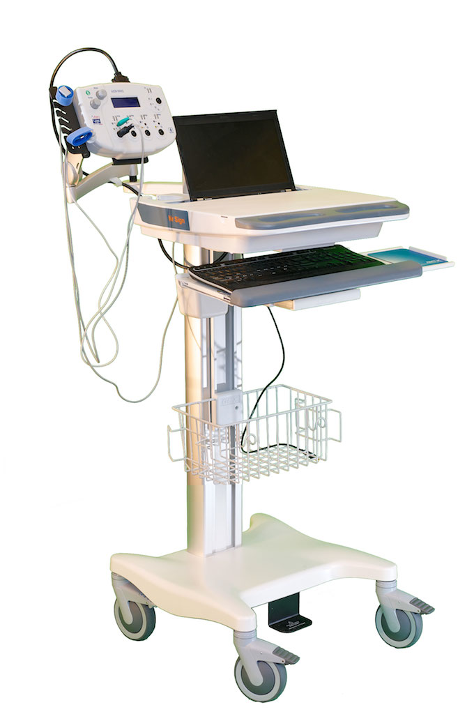 EMG/NCV/EP 5000Q EMG System, set up on a trolley